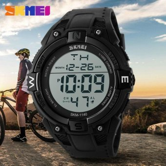 Skimei 1140 Casual Men New Waterproof Electronic Digital Watch Outdoor Sports Watch - intl