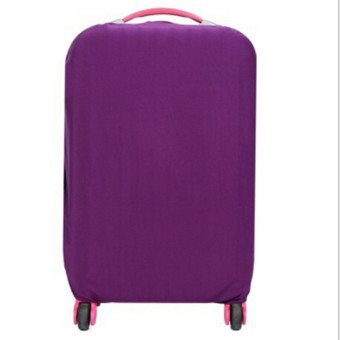 Harga Hanyu Solid Elasticity Luggage Protective Suitcase Covers L(Purple) - intl
