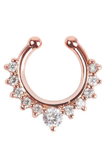 Harga Velishy Nose Ring Fake Septum Clicker Non Piercing Rose Gold (EXPORT)
