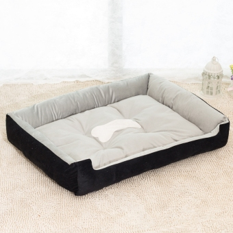 Harga Removable Puppy Cat Dog Bed Cushion Blanket Kennel Pet House XXS (Black)