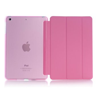 Harga New iPad 2017 iPad 9.7 inch / Ipad Air (ipad 5) case, Welink Ultra Slim Smart Cover PU Leather Case for Ipad Air (ipad 5) / New iPad 2017 iPad 9.7 inch (Pink) (Intl)
