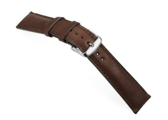 iStrap 22mm Genuine Calf Leather Watch Band Straps Steel Spring Bar Buckle Replacement Clasp Super Soft Dark Brown 22 - 2