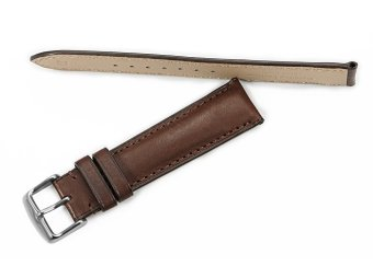 iStrap 22mm Genuine Calf Leather Watch Band Straps Steel Spring Bar Buckle Replacement Clasp Super Soft Dark Brown 22 - 3