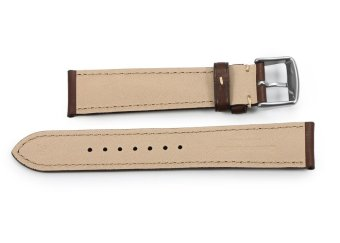 iStrap 22mm Genuine Calf Leather Watch Band Straps Steel Spring Bar Buckle Replacement Clasp Super Soft Dark Brown 22 - 5