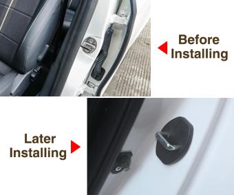 For Audi A8L A4L A4 A5 A6L A6 A7 S5 Q3 Q5 TT TTS Car Door Lock Buckle Cover - Intl - 4