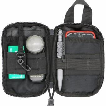 LefRight Black Mini Tactical Molle EDC Compact Pocket Organizer Pouch - intl - 2