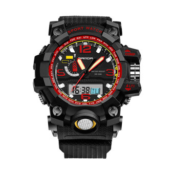 SANDA 732 Multifunctional Outdoor Sports Waterproof Shockproof Electronic Watch(red)