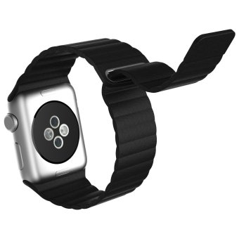 Harga Genuine Leather Band for Apple Watch iwatch,Replacement Leather strap for Apple Watch 38mm (Black)