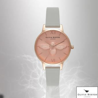 Harga Olivia Burton Midi Moulded Bee Grey & Rose Gold Watch OB15AM74