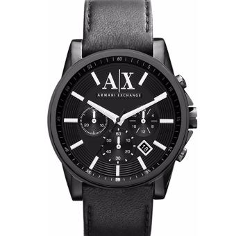 Harga Armani Exchange Banks Black Dial Black Ion-plated Men's Watch AX2098