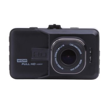 Harga Dual Lens Car DVR Cam Dashcam 1080P Full HD Video Registrator Recorder - intl