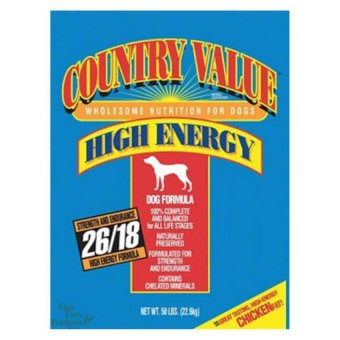 Harga MADE IN USA Country Value High Energy Dog Food 50lbs For Pets Dog