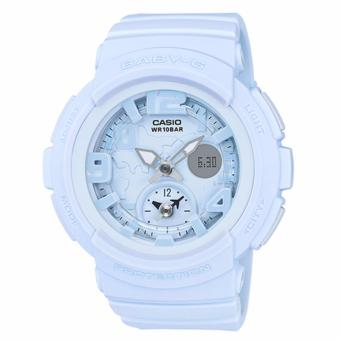 Harga Casio Baby-G Beach Traveler Matte One-tone Series Pastel Blue Resin Band Watch BGA190BC-2B