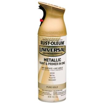 Harga Rust-Oleum All-Surface Spray Paint 12oz (Metallic Pure Gold)