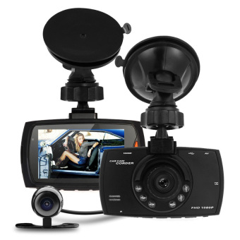 "Harga Full HD 1080P 2.7"" Dash Cam Car DVR Video Camera Recorder DualCamera Crash Cam - Intl"