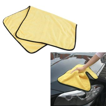 Harga Beau Yellow Absorbent Microfiber Wash Cloth Car Auto Cleaning Towels 92cm x 56cm - intl
