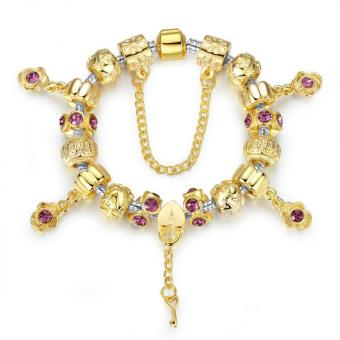 Harga PA1427 Female DIY Gold Beaded Bracelet(Gold) - intl