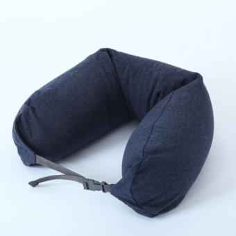 Harga MUJI Well fitted Neck Cushion U Shape Travel Neck Pillow Cushion Memory Foam Pillow Ergonomically Shaped Pillow and Seat Memory(Navy) - intl