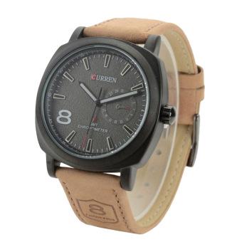 Curren Men's Black Leather Strap Watch 8139 - 2