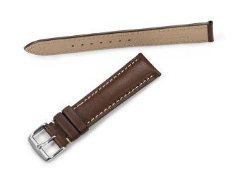 iStrap 22mm Genuine CalfSkin Leather Watch Band Strap Steel Spring Bar Buckle Replacement Clasp Super Soft Dark Brown 22 - 4