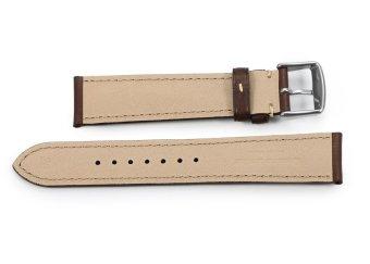 iStrap 22mm Genuine CalfSkin Leather Watch Band Strap Steel Spring Bar Buckle Replacement Clasp Super Soft Dark Brown 22 - 5