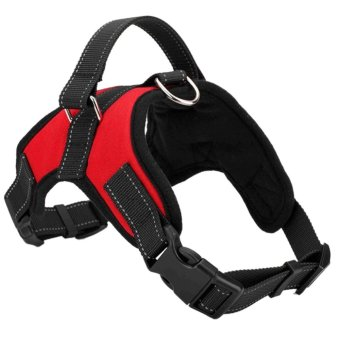 Harga Pet Dog Soft Adjustable Harness Pet Walk Out Hand Strap Vest Collar (Red) (M) - intl