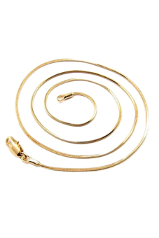Harga Sporter 18k Italy Gold Polished Snake Chain Necklace