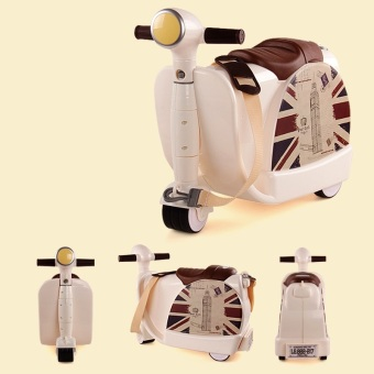 Harga 2in1 Kids Travel Suitcase / Kids Suitcase (Beige)
