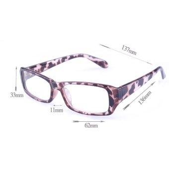 [Buy 1 Get 1 Freebie] AORON Brand New Style Anti-radiation Reading Glasses Anti-fatigue Computers Glasses Gold Film Eyeglasses 21007Leopard - intl - 4