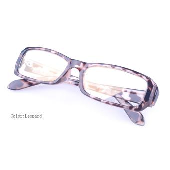 [Buy 1 Get 1 Freebie] AORON Brand New Style Anti-radiation Reading Glasses Anti-fatigue Computers Glasses Gold Film Eyeglasses 21007Leopard - intl - 2