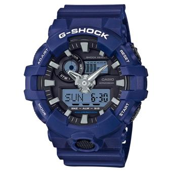 Harga Casio G-Shock New GA-700 Blue Resin Band Watch GA-700-2A