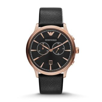 Harga Armani Black Leather Watch