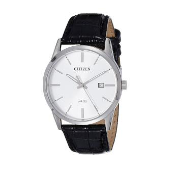 Harga Citizen Watch QUARTZ Black Stainless-Steel Case Leather Strap Mens Japan NWT + Warranty BI5000-01A