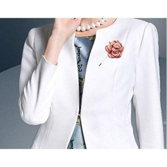 Men's Flower Lapel Pin Brooch Handmade Boutonniere for Suit - intl - 2
