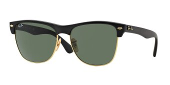 Harga Ray-Ban Sunglasses Clubmaster Oversized RB4175 - Demi Shiny Black/Arista (877) Size 57 Crystal Green