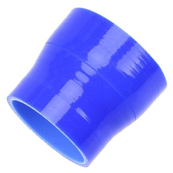 POSSBAY Universal 63-76mm Car Silicone Hose Reducer Coupler Blue Adjustable Silicone Straight Hose Pipe Turbo Intake - 5
