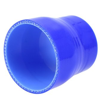 POSSBAY Universal 63-76mm Car Silicone Hose Reducer Coupler Blue Adjustable Silicone Straight Hose Pipe Turbo Intake - 3