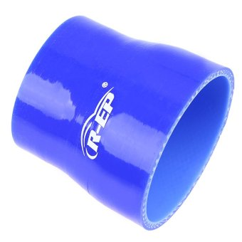 POSSBAY Universal 63-76mm Car Silicone Hose Reducer Coupler Blue Adjustable Silicone Straight Hose Pipe Turbo Intake - 2