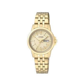 Harga Citizen Watch QUARTZ Gold Stainless-Steel Case Stainless-Steel Bracelet Ladies Japan NWT + Warranty EQ0603-59P