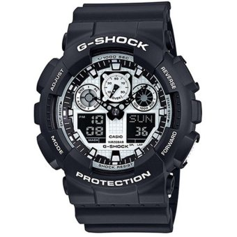 Casio G-Shock New White and Black Series Special Color Model Watch GA100BW-1A