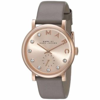 Harga Marc By Marc Jacobs Baker Rose Gold Dial Grey Leather Ladies Watch MBM1400