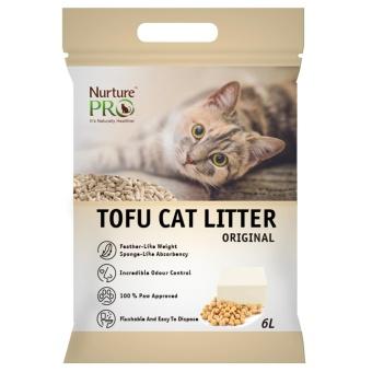 Nurture Pro Tofu Cat Litter Original 6L + FREE 2 x Daily Delight Pure Salmon - 2