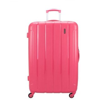 Harga 24inch 4.1kg Royal McQueen 4 Wheels Spinnner Luggage QTH6907 (Pink)