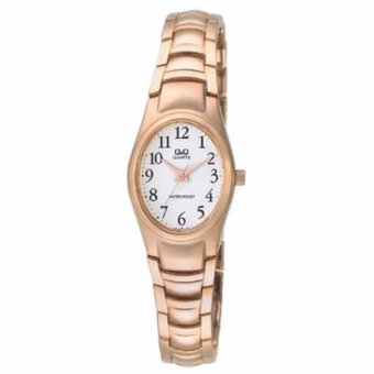 Harga Q&Q F279J014Y By Citizen Rose Gold Stainless Steel White Dial