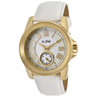 Harga A_Line Women's Watches Amare White AL-80022-YG-02-WH