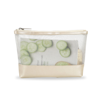 Harga Female simple BOTTA design transparent cosmetic bag clutch bag large capacity portable travel cosmetic pouch