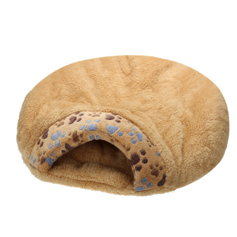 Harga Warm Soft Velvet Fleece Cat House Sleeping Bag Lovely Kennel (Brown) (M) - intl