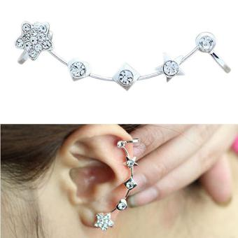 Harga Korea Fashion Soft Ear Stud Beautiful Star Ear Clip Earring