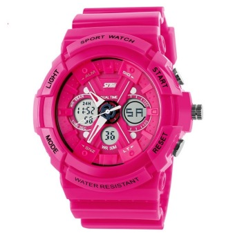 Lady's Outdoor Sports Electronic Watch With Water Resistant Tide Wristwatches(Red)(Export)(Intl)