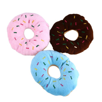 Harga Lovely Pet Dog Puppy Cat Squeaker Sound Toy Chew Cotton Donut Play Toys